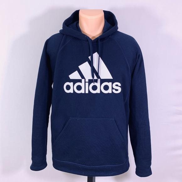 50016b825 adidas Shirts | Mens Navy Blue Hoodie Sweatshirt Size M | Poshmark
